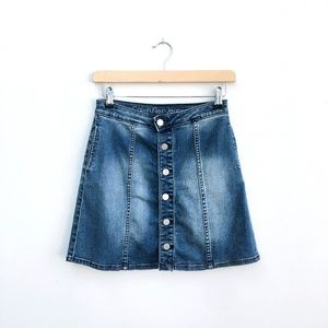 ⚡️Calvin Klein button-front Denim Skirt - size 26